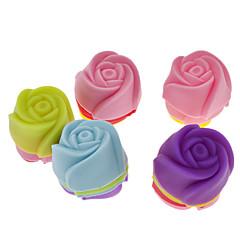 steeg vormige kleurrijke siliconen mini cupcake schimmel (20st)