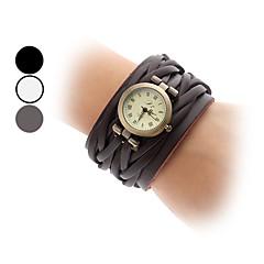 Женские Модные часы Кварцевый Группа Винтаж Черный / Белый / Коричневый бренд-