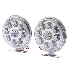 5W 400-450LM White Light LED pære til bil kørelyslygter (DC 12V, 1-Pair)