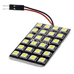 BA9S/Festoon/T10 12W 24x5060SMD 900-1000LM 6000-6500K White Light LED Car lamppu (DC 12V)