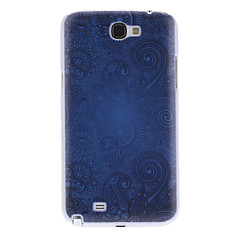 Court Flower Pattern Hard Case for Samsung Galaxy Note 2 N7100