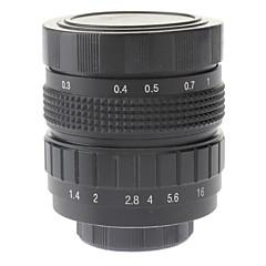 """50mm F1.4 Lens CCTV em Micro 2/3 """"C (preto)"""