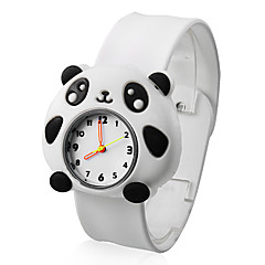 Children's Lovely Panda Style White Silicone Band Quartz Analog Wrist Watch