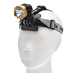 3-Mode Cree XM-L T6 LED ajovalaisin (1000LM, 4x18650, Red / Gold)
