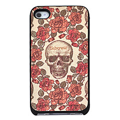 Rose Skull Pattern Hard Case for iPhone 4/4S