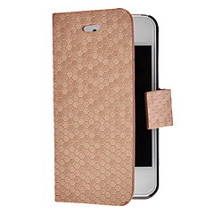 Solid Color Diamond Pattern Full Body Case with Magnetic Snap for iPhone 4/4S