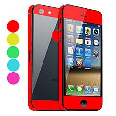 아이폰 5를위한 까만 뒤 보호자 (선택적인 색깔)를 가진 태양열 집열기 스킨 가드