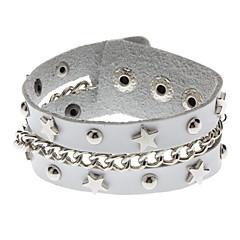 Star Chain White Metal Rivets Bracelet