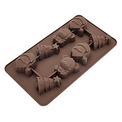 Christmas Tree Bear Shaped Silicone Ice Tray Chocolate Mould