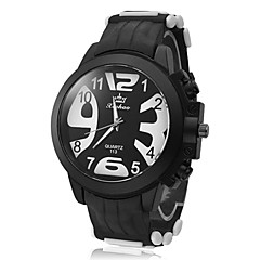 Men's Exaggerated Figures Analog  Quartz Sports Watch(Black)