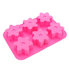 Snowflake Shaped Silicone Cake Cookie Mould