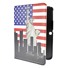 Vintage The Statue Of Liberty Pattern PU Leather Full Body Case for Samsung Galaxy Tab3 P5200