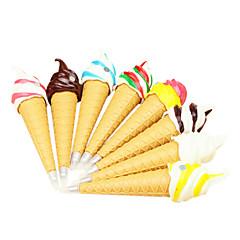 아이스크림 모양의 검은 색 잉크 볼펜 (색상 랜덤)
