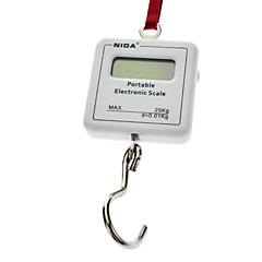 """1.2 """"LCD draagbare digitale elektronische weging haak schaal - Wit (1 * CR2032/25kg Max)"""