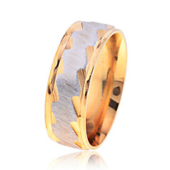 Fashion  Men'S Ripple Pattern Stainless Steel  Ring