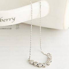kvinnors koreanska versionen utsökta diamantborr nyckelbenet kedja halsband n552