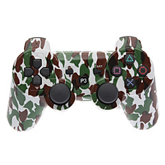 Brown et vert camouflage Bluetooth Dual-Shock V4.0 manette sans fil pour PS3
