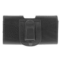 Protetora PU Leather Case w / Belt Clip para Samsung Galaxy S3/S4 i9300/i9500 - Preto