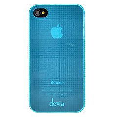 DEVIA Solid Color Tiny Grids Pattern Ultrathin PC Hard Case for iPhone 4/4S (Optional Colors)