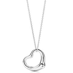 Women's European and American Style Heart sweater chain necklace N93