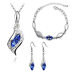 Jewelry Set Drop Earrings Pendant Necklaces Bracelet Crystal Imitation Diamond Basic FashionCrystal Rhinestone Imitation Diamond Austria