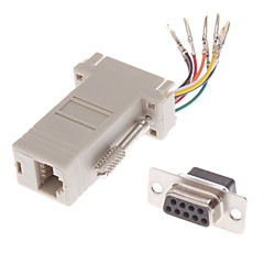 DB9 Female naar RJ-45 Female Modular Adapter Wit