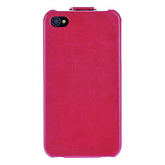 Solid Color Flip up and down Designed Full Body Case with Interior Flocking Protection for iPhone 4/4S (Optional Colors)