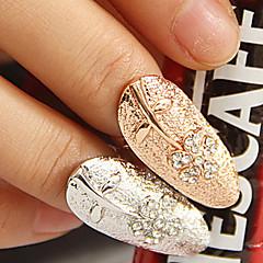 Korean Style kukka sormen kynsien Ring (Random väri)