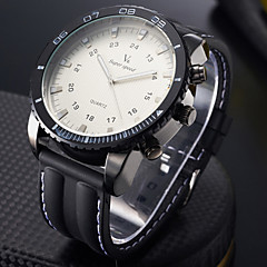 V6® Men's Watch Military Steel Case Silicone Strap Cool Watch Unique Watch