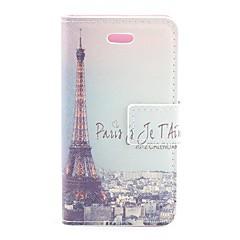Retro Paris Eiffelturm-Entwurf PU-Schutzhülle mit Card Slot für iPhone 4/4S