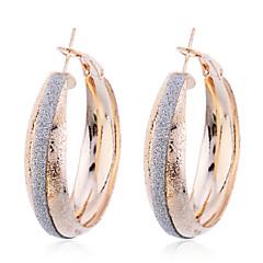 European Style Fashion Gold Plated Glitter Matte Earrings