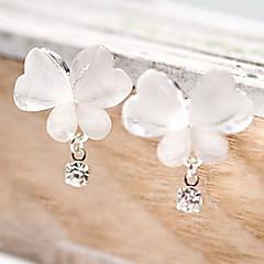 Women's Fine Ice Crystals Butterfly Flash Diamond Earrings E73