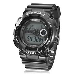Men's Watch Sports Multi-Function LCD Dial Rubber Band Cool Watch Unique Watch