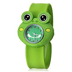 Children's 3D Frog Shape Silicone Band Quartz Analog Slap Wrist Watch Cool Watches Unique Watches