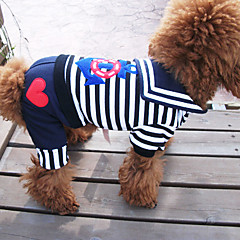 Perros Camiseta Negro Verano Náutico / Rayas Cebra