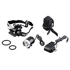 Комплект из 4 режимного велосипедного светодиодного фонарика и налобного фонаря 3 x CREE XM-L T6 (K3-B, 4 x 18650 Battery)