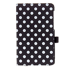 2 Folds Spots Pattern PU Leather Case for Nexus 7 (2. sukupolvi)