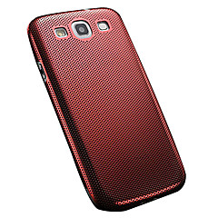 Thin Mesh Aluminum Brushed Back Metal Cover for Samsung Galaxy S3 I9300