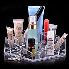 Acrylic Transparent Complex Quadrate Cosmetics Storage Stand Makeup Brush Pot Cosmetic Organizer