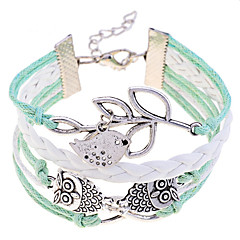 Lureme®Lucky Olive Branch Owl Bracelet