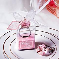Met deze RingCrystal ring sleutelhanger (roze)