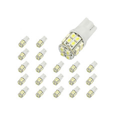 10 x T10 20-SMD 1210 Hvit LED Car Lights Bulb 194 168 2825 W5W