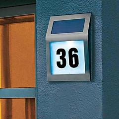 2-LED Outdoor Solar Powered Stainless Steel White Light for Doorplate