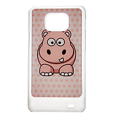 Hippopotamus Pattern Protective Hard Back Case Cover for Samsung Galaxy S2 I9100
