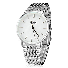 Unisex Concise Style Round Dial Steel Band Quartz Analog Wrist Watch (Assorted Colors)