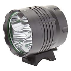 LetterFire LF-50 3 형태 5xCree XM-L T6 LED 자전거 플래쉬 등 / 헤드 램프 (4000LM, 4x18650, 회색)