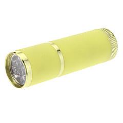 9xLED Mini lampe de poche (3xAAA, jaune)