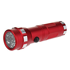 14-LED mono-mode lampe torche puissante (3xAAA, rouge)