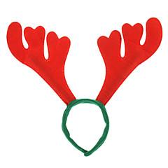 David Deer Horn Shaped Fluff Headgear for Christmas