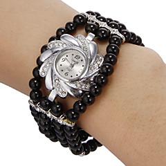 Women's Bracelet Watch Quartz Imitation Diamond Band Flower Bohemian Black Brand